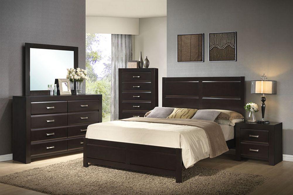 SANDRA - Wooden Bedroom Set in Black